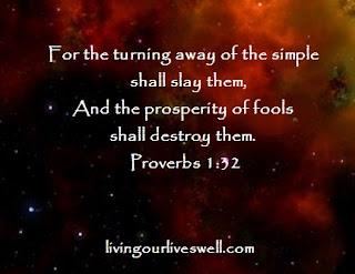 Proverbs 1:32