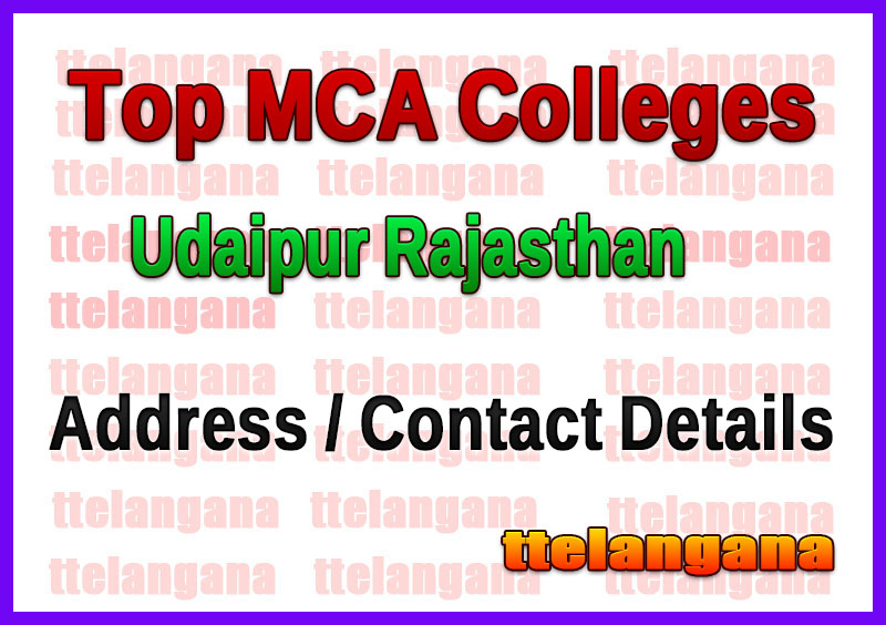 Top MCA Colleges in Udaipur Rajasthan
