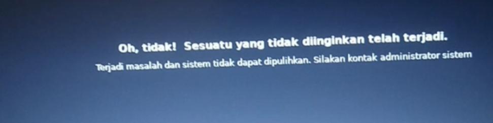 error booting kali linux