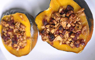 Acorn Squash w/honey & nut stuffing/topping Recipe  [ Cooks Recipse ]