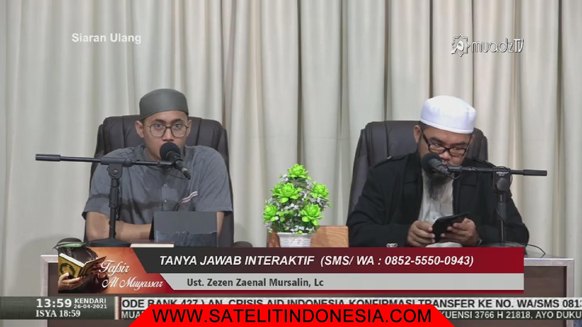 Frekuensi siaran Muadz TV di satelit Telkom 4 Terbaru