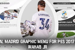 New Real Madrid Graphic Menu For - PES 2017