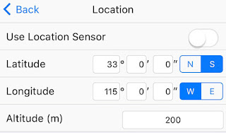 The Sky-Watcher iPhone app at least lets you select a southern hemisphere location (Source: Palmia Observatory)