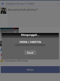 cara upload video ke fb di hp android