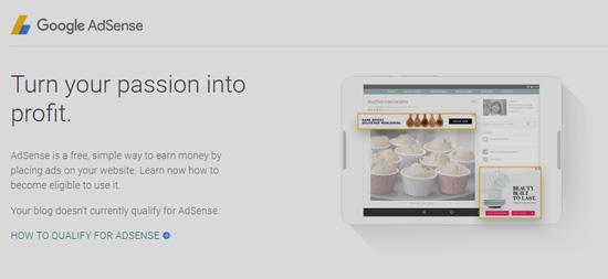 مدونتك غير مؤهلة حاليا لبرنامج AdSense