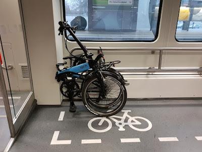 Gründe für ein Faltrad? Mitnahme in der Bahn