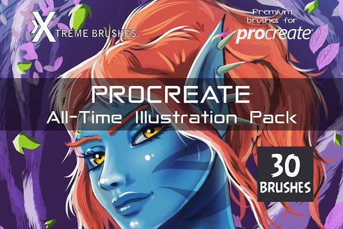 CreativeMarket Procreate All-Time Illustration Pack 4477180