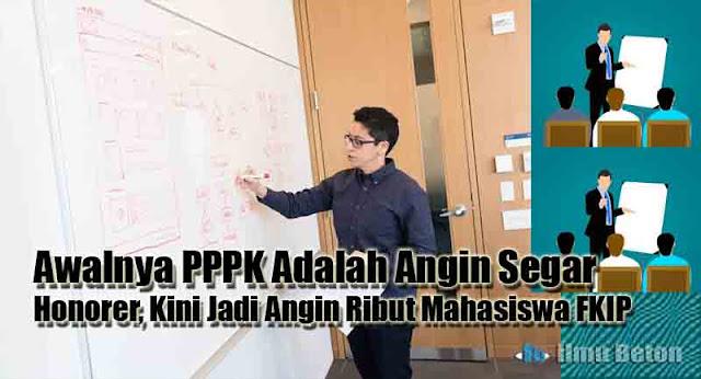 Awalnya PPPK Adalah Angin Segar Honorer, Kini Jadi Angin Ribut Mahasiswa FKIP