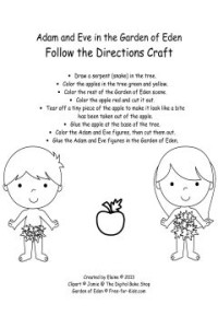 adam and eve coloring page for preschoolers - top 8 adam and eve crafts jesus loves me devotions