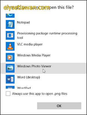 seting default penampil foto windows 10 bagian 3