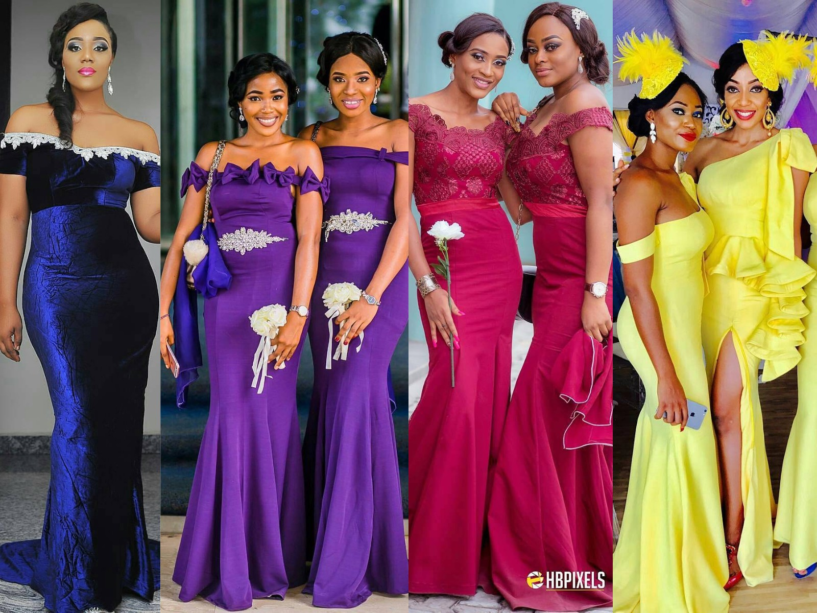 Beautiful African American Bridesmaids Dresses Images - Wedding ...