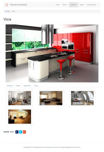 halaman konten rumah aktif pada tab galeri