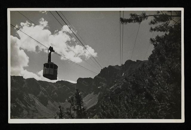 Zakopane Blog: Widok na Kasprowy Wierch i wagonik w 1936 roku