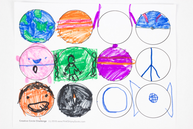 Creative Circle Art Challenge- Such a fun activity to try with kids!