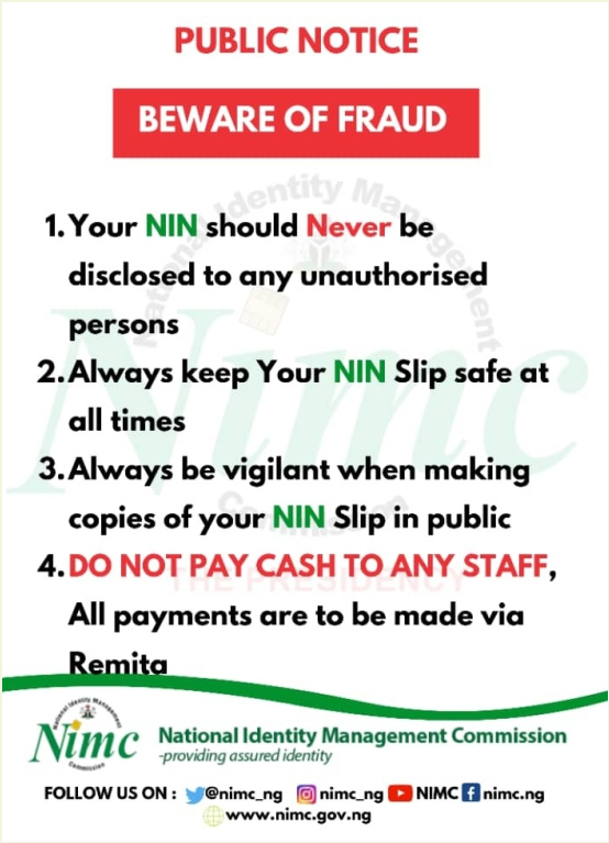 NIMC (NIN) Enrolment Form » Guidelines & Requirements
