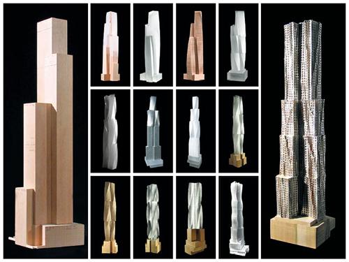 8 spruce street new york by gehry frank nyc tower building skyscraper St ny rascacielos edificio maquetas modelos
