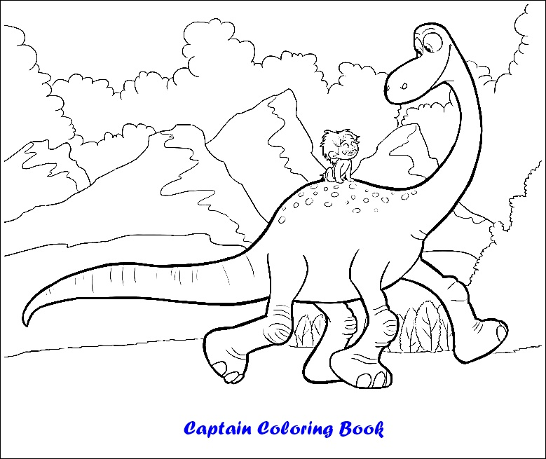The Good Dinosaur coloring pages on Coloring-Book.info | 655x779