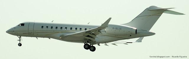 M-BLUE - Bombardier BD 700 - LPPT - AEROPORTO HUMBERTO DELGADO - AEROPORTO DE LISBOA