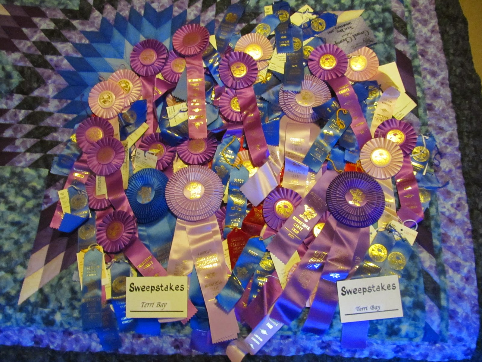 Terri Bay Needlework Designs: State Fair Ribbons