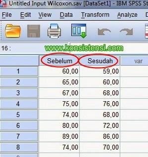 Cara Uji Peringkat Bertanda Wilcoxon dengan SPSS