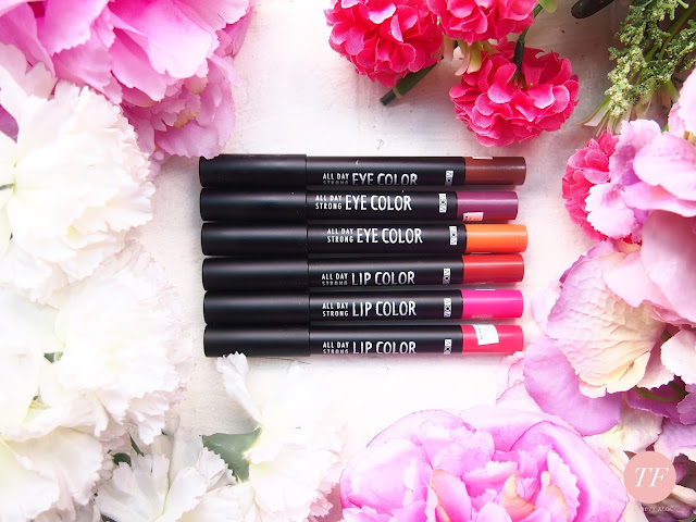 VOV ALL DAY STRONG EYE COLOR AND LIP COLOR are so travel friendly and easy to use. The pigmentation is good and natural finish on the face. It is buildable and light weight. The texture is velvety smooth and quick to set therefore you do need to blend quickly. It last long and waterproof!