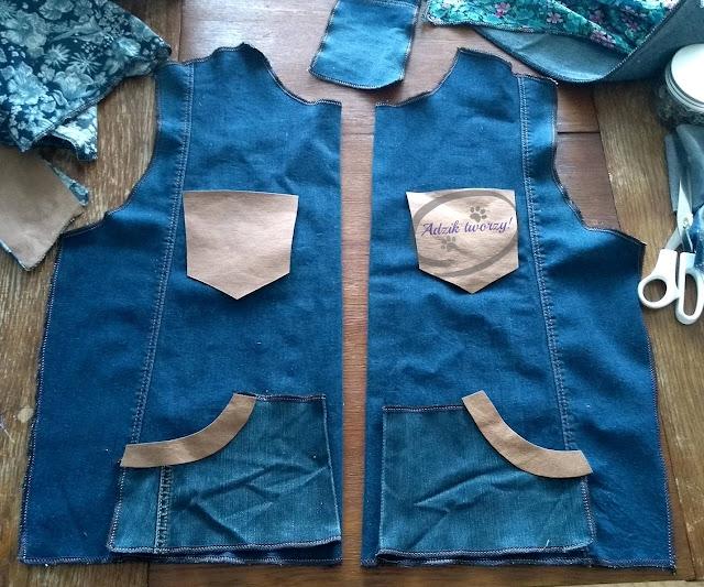 szycie kurtka jeansowa DIY ze starych spodni