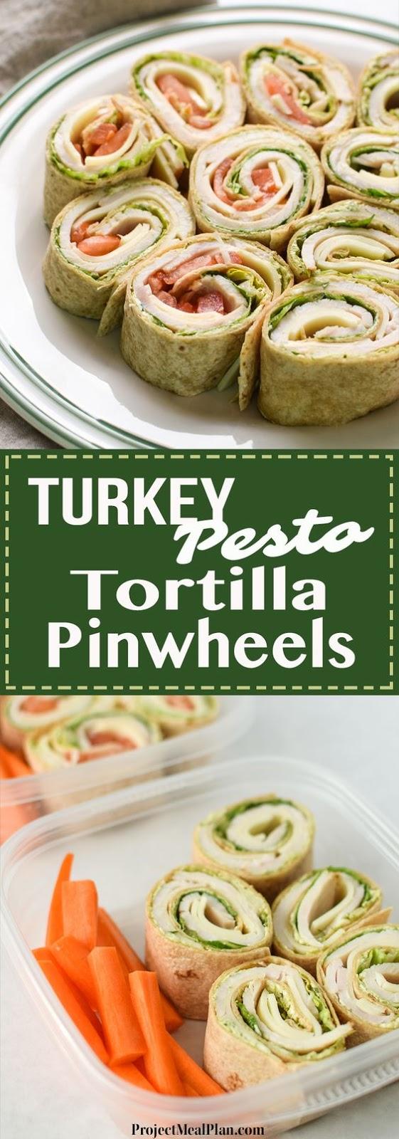 Turkey Pesto Tortílla PínWheels