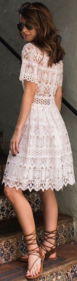 Stunning Dress From Lace #dress #lace #casual