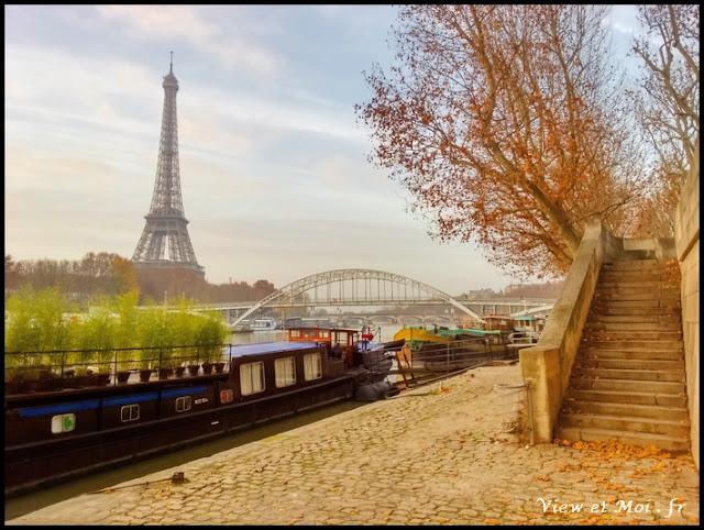 quai parisien et péniche