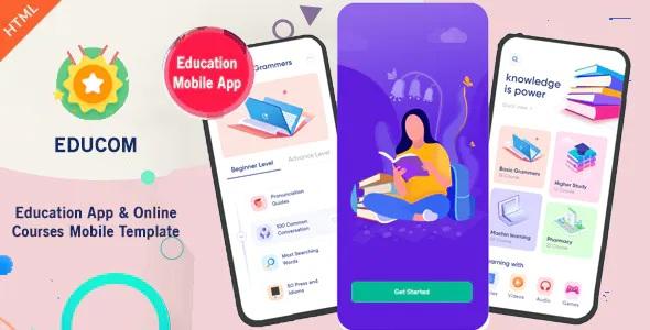 Best Education App & Online Courses Mobile Template