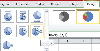 Como editar um gráfico do Excel - Porcentagem no gráfico de Pizza