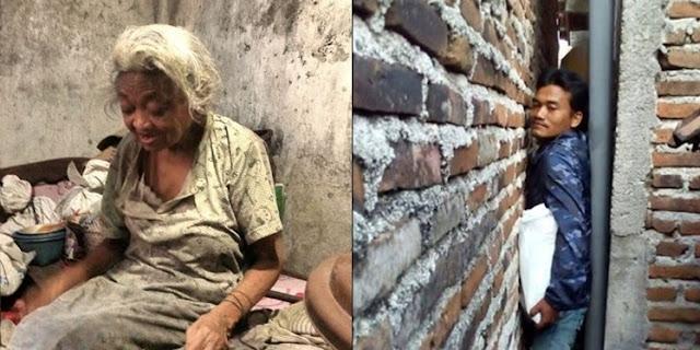 Miris! Mbah Siri yang Buta dan Hidup Sebatang Kara, Rumahnya di Lorong Gang Sempit Hanya Bisa Dijangkau Orang Kurus