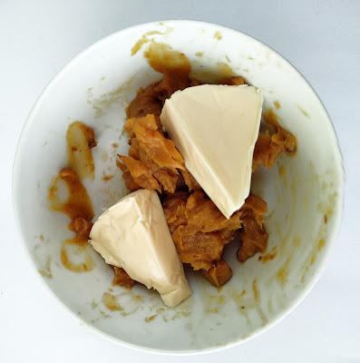 DIP DE AJO ASADO Y QUESITOS la cocinera novata cocina receta pate crema vegetariano vegano pobres economica bajo en calorias queso