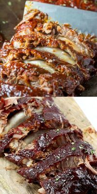 These Fall Off The Bone Ribs are a simple recipe that is baked low and slow in the oven creating a tender, juicy and flavorful bbq dinner.
