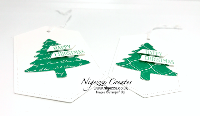 Nigezza Creates with Stampin' Up! & Pine Tree punch & Stitched Nested Label Dies