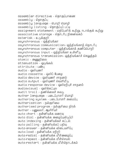 Tamil Words