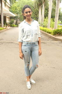 Rakul Preet Singh in Jeans and White Shirt At Jaya Janaki Nayaka le Logo Launch ~  Exclusive