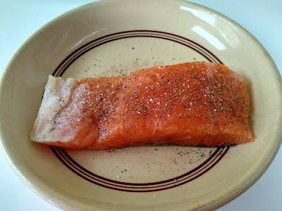 Salmon en papillote cocinado en sarten la cocinera novata receta cocina bajo en calorias pescado vapor