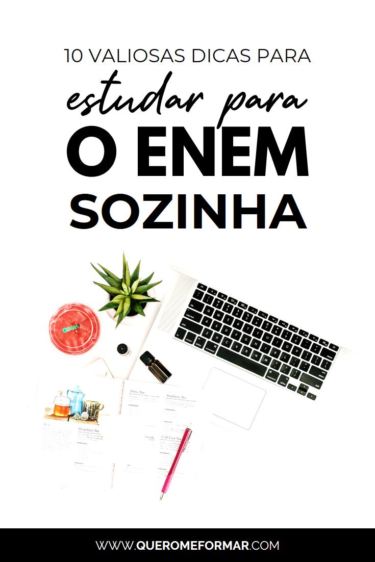 Imagens para Pinterest 10 Dicas de Como Estudar Sozinho para o Enem que Realmente Funcionam (Sem Gastar Nada!)