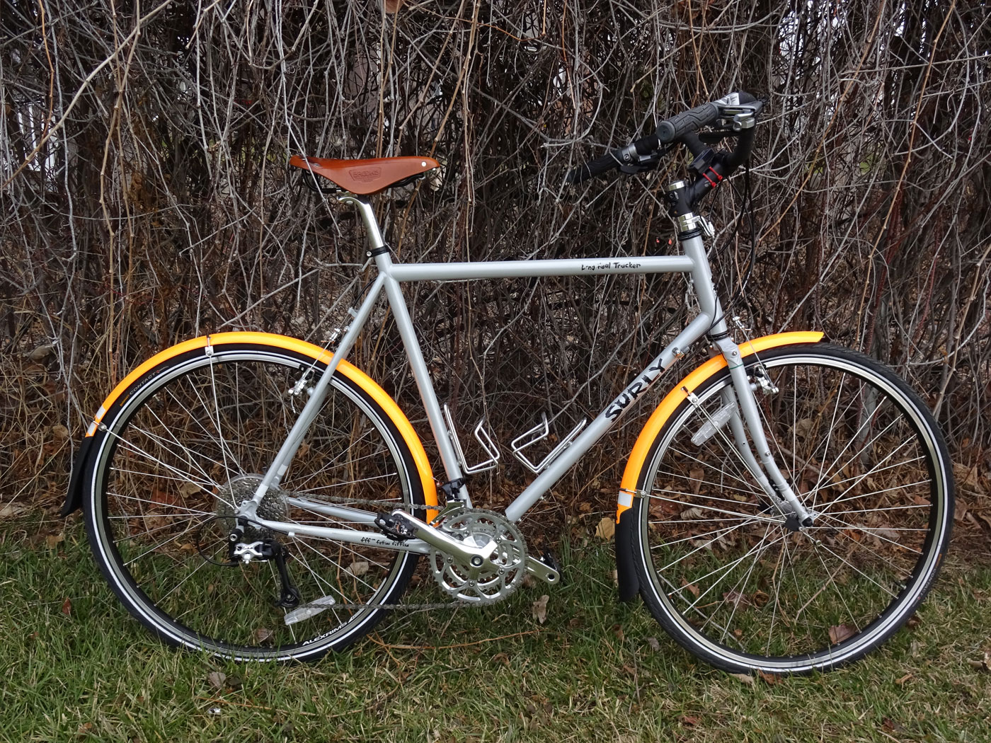 You Will Notice The Upright Style Handlebars, Which Were Installed By The  Previous Owner (along With The Sweet Brooks B17 Saddle).