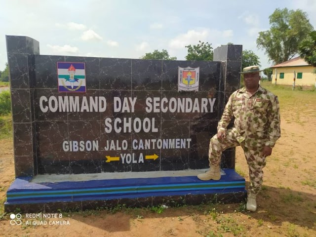 ARMY EMPOWERS 32 ADAMAWA RESIDENTS, COMMISSIONS STUDENTS QUARTER GUARD/RSM'S OFFICE IN COMMAND DAY SECONDARY, YOLA