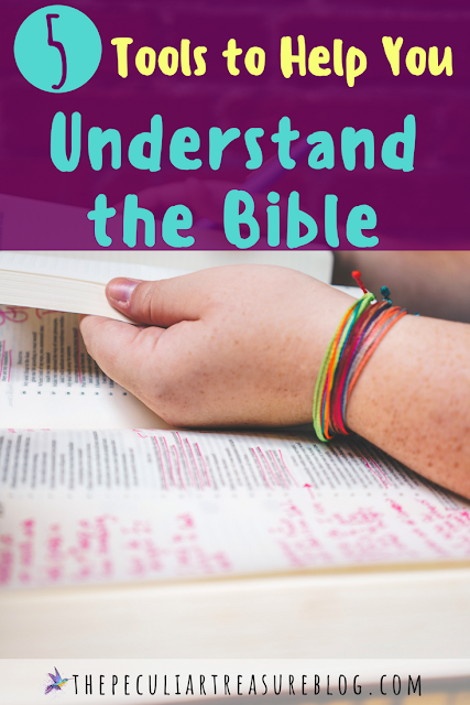 Do you struggle to understand the Bible? Check out these 5 tools that can help you understand the Bible. #Bible #Christianity #faith #books