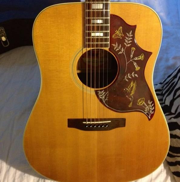 canadian vintage guitar hunt 1978 gibson hummingbird acoustic. Black Bedroom Furniture Sets. Home Design Ideas