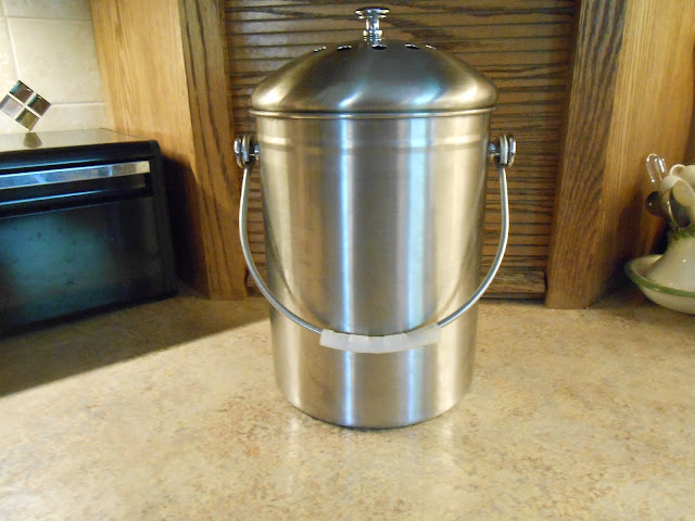 Windy Acres Diary Stainless Steel Compost Bucket