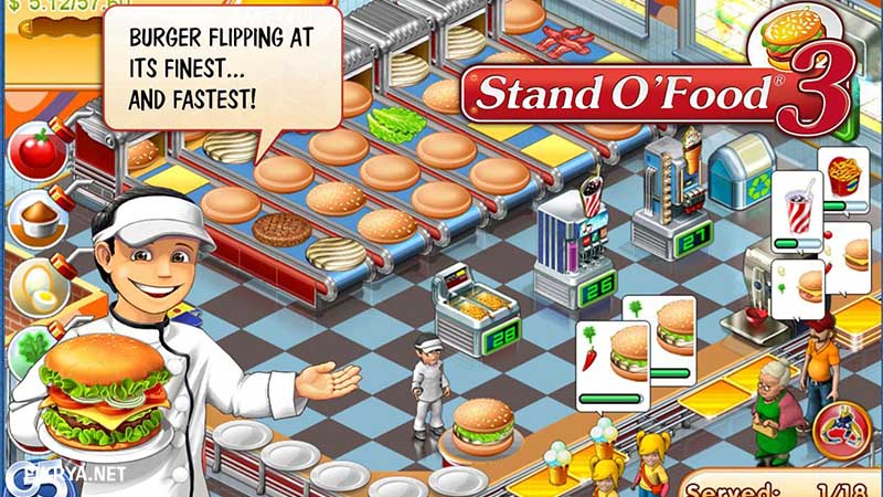 Game memasak online Stand O'Food 3