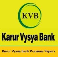 Karur Vysya Bank Previous Papers