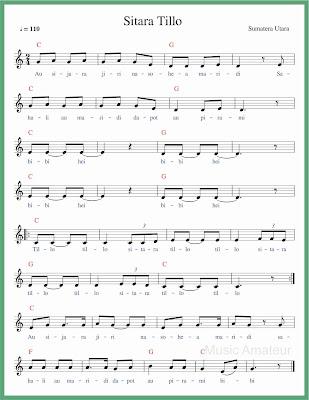 not balok lagu sitara tullo
