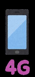 移動通信システムのイラストマーク(4G)