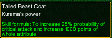 naruto castle defense 6.2 naruto Tailed Beast Coat detail