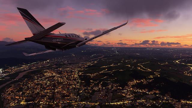 Imagem do Microsoft Flight Simulator 2020